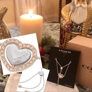 COACH Heart Bracelet Rose Gold/Silver Champagne